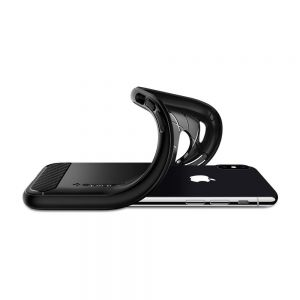 Чехол для iPhone X Spigen Case Rugged Armor Matt Black (057CS22125)