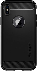 Чехол для iPhone X Spigen Case Rugged Armor Matt Black (057CS22125)