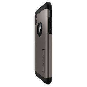Чехол для iPhone X Spigen Case Slim Armor Gunmetal (057CS22135)