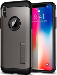 Чехол для iPhone X Spigen Case Slim Armor Gunmetal (057CS22135)