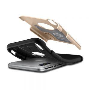 Чехол для iPhone X Spigen Case Slim Armor Champagne Gold (057CS22136)