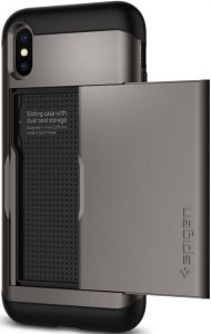 Чехол для iPhone XS/X Spigen Case Slim Armor CS Gunmetal (057CS22156)