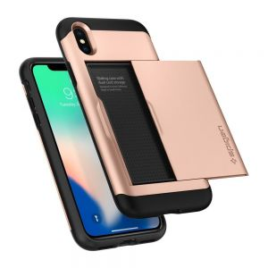 Чехол для iPhone XS/X Spigen Case Slim Armor CS Blush Gold (057CS22157)