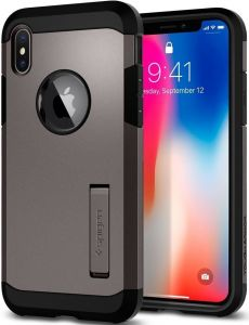 Чехол для iPhone X Spigen Case Tough Armor Gunmetal (057CS22161)