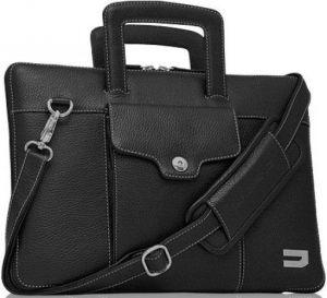 Кожаная сумка / чехол-книжка для MacBook 12'' URBANO Compact Attache Leather - Black (UZRB12-01)