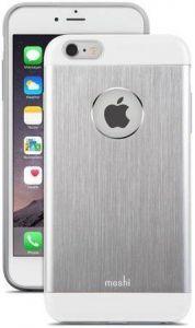 Чехол для iPhone 6 Plus / 6S Plus 5.5'' Moshi iGlaze Armour Metallic Case Jet Silver (99MO080201)