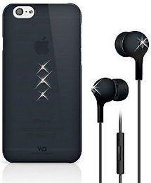 Чехол + наушники для iPhone 6/6S 4.7'' White Diamonds Bundle Black (Trinity Black+Earphones Black) (7007TRI6)
