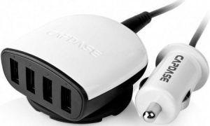 Автомобильное З/У Capdase Quartet USB Car Charger Boosta Z4 (6.2 A) White (CA00-7B02)