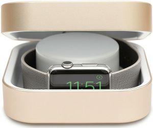 Кейс с функцией док-станции для Apple Watch и внешний аккумулятор на 3 800 mAh Amber Apple Watch Charging Case & Power Bank Gold