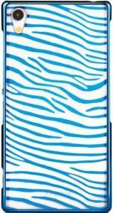 Чехол для Sony Xperia Z2 (D6502, D6503) Vouni Glimmer Zebra Blue