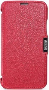 Кожаный чехол для Samsung Galaxy S5 (G900) iCarer Litchi Rose (side-open) (RS960002)