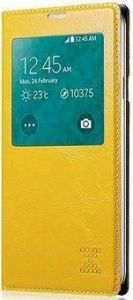Чехол для Samsung Galaxy S5 (G900) Xoomz Original Oil Wax Leather Yellow (side-open) (XSI96006)