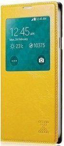 Чехол для Samsung Galaxy S5 (G900) Xoomz Original Oil Wax Leather Yellow (side-open) (XSI96006)