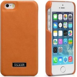 Кожаный чехол для iPhone SE и iPhone 5/5S iCarer Luxury Orange (back cover) (RIP516)