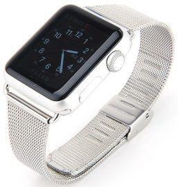 Ремешок со стальным миланским плетением для Apple Watch 42mm (Серия 1/2/3) / 44mm (Серия 4/5) COTEetCI W2 Milanese Band Silver (CS2062-TS)