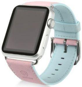 Ремешок из искусственной кожи для Apple Watch 38/40mm Baseus Colorful Watchband Pink-Blue