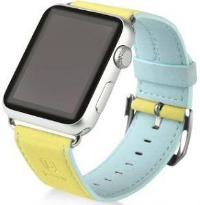 Ремешок из искусственной кожи для Apple Watch 38/40mm Baseus Colorful Watchband Yellow-Blue
