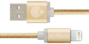 Кабель COTEetCI M30i Lightning Cable 1.2m Gold (CS2127-1.2M-GD)