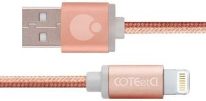 Кабель COTEetCI M30i Lightning Cable 1.2m Rose Gold (CS2127-1.2M-MRG)