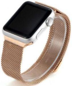 Ремешок со стальным миланским плетением для Apple Watch 38mm (Серия 1/2/3) / 40mm (Серия 4/5) COTEetCI W6 Magnet Band Rose Gold (WH5202-MRG)