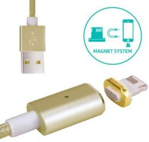 Кабель COTEetCI M11 NYLON Lightning+Magnet System Gold (CS2117-GD)