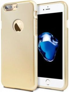 "TPU чехол Mercury iJelly Metal series для Apple iPhone 7 plus / 8 plus (5.5"") Золотой"
