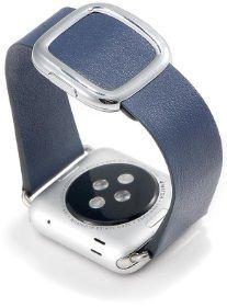 Кожаный ремешок для Apple Watch 42mm (Серия 1/2/3) / 44mm (Серия 4/5) COTEetCI W5 NOBLEMAN Blue (WH5201-DB)
