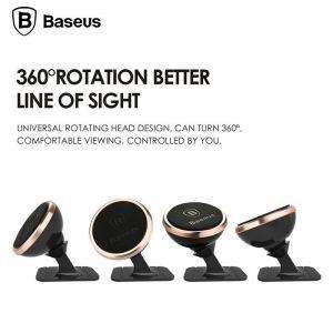 Автодержатель (до 7'') Baseus 360-degree Rotation Magnetic Mount Holder (Paste type) Silver