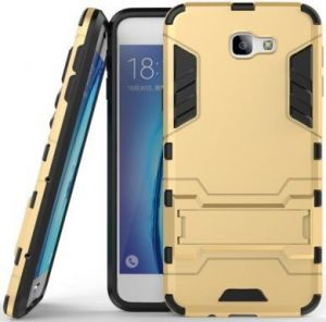 Ударопрочный чехол-подставка Transformer для Samsung G610F Galaxy J7 Prime Champagne Gold