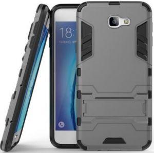 Ударопрочный чехол-подставка Transformer для Samsung G610F Galaxy J7 Prime Metal Slate