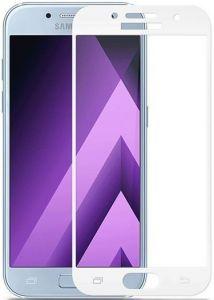 Защитное цветное стекло Mocolo (CP+) на весь экран для Samsung A320 Galaxy A3 (2017) Белое