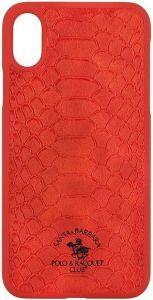 Чехол для iPhone X/XS Santa Barbara Polo & Racquet Club Knight Red (SB-IPXSPKNT-RED)