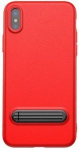 Чехол для iPhone X Baseus Happy Watching Supporting Case Red (WIAPIPH8-LS09)