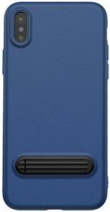 Чехол для iPhone X Baseus Happy Watching Supporting Case Royal Blue (WIAPIPH8-LS15)