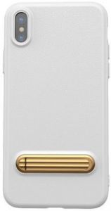 Чехол для iPhone X Baseus Happy Watching Supporting Case White (WIAPIPH8-LS02)