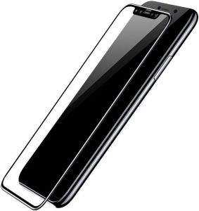 Защитное 3D-стекло для iPhone X COTEetCI 4D full-screen Glass Black (GS8101-BK)