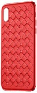 Чехол для iPhone X Baseus BV Weaving Case Red (WIAPIPHX-BV09)
