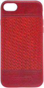 Кожаный чехол для iPhone 8/7 (4.7'') Santa Barbara Polo & Racquet Club Chevron Red (SB-IP7SPCHR-RED)
