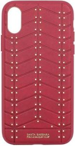 Чехол для iPhone X Santa Barbara Polo & Racquet Club Armor Red (SB-IPXSPARM-RED)
