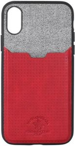 Чехол для iPhone X Santa Barbara Polo & Racquet Club Tasche Red (SB-IPXSPPOC-RED)