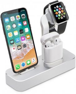 Док-станция для iPhone и Apple AirPods COTEetCI Base19 Stand Silver (CS7201-TS)