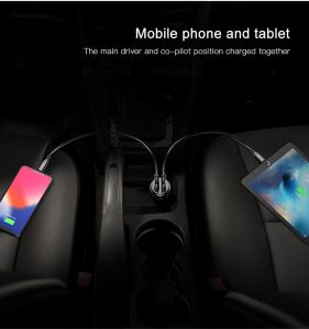 Автомобильное зарядное устройство Baseus Gentleman 4.8A Dual-USB Car Charger Red (CCALL-GB09)