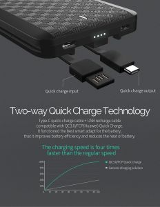 Внешний аккумулятор iWalk Scorpion 12000mAh Black (UBT12000X)