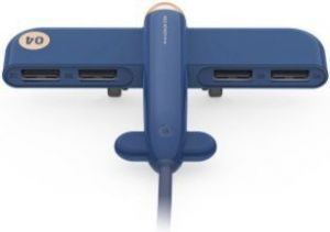 USB хаб 3Life Airplane USB HUB Blue