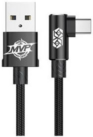 Кабель Baseus MVP Elbow Type Cable USB For Type-C 2A 1M Black (CATMVP-A01)