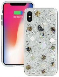 Чехол для iPhone X SwitchEasy Flash Case Silver Seashell (GS-81-444-40)