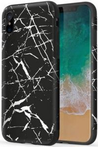 Чехол для iPhone X (5.8'') Rock Origin Series (Textured) Black Marble