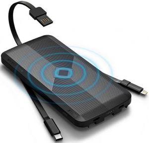 Внешний аккумулятор с беспроводной зарядкой (5W) iWalk Scorpion Air 8000mAh Black (UBA8000)