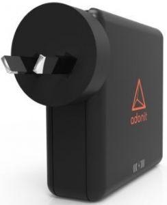 Сетевой адаптер со встроенным аккумулятором на 6700 mAh и с функцией беспроводной зарядки Adonit Wireless TravelCube Black (3124-17-07-A)