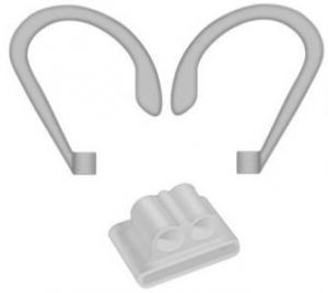 Набор держателей для AirPods 2/1 COTEetCI Airpods Sports Wrist Fit Grey (CS8117-GY)